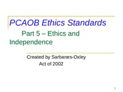 PCAOB Ethics Standards