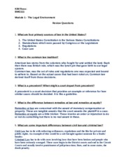 business law chapter 1 study guide