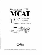 examkrackers verbal 101 passages in mcat verbal reasoning