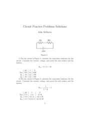Circuit Problems Solutions