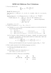 Midterm Test I Solutions