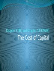 Cost of Capital(1) (1)