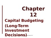 Chapter 12 (capital budgeting)-SV