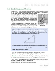 Section 6: The Pythagorean Theorem