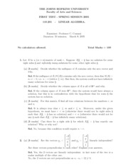 201 Midterm 1 Solutions