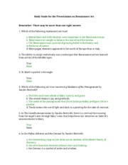 Lesson1_1Study Guide for the Presentation on Renaissance Art (FDWLD201-01)