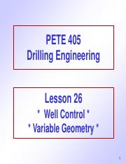 26. Well Control - Variable Geometry