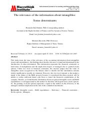The relevance of the information about intangibles Some determinants.pdf