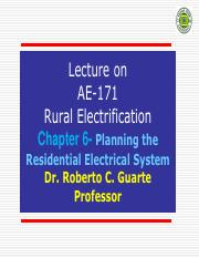 Chapter 6 - Planning the Residential Electrical System