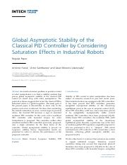 global asymptotic stabilty of the classical pid controller by considerin saturation effects in indus