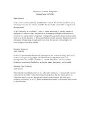 Business Law Chapter 14 Textbook assignment