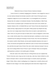 Science Fiction in American Literature Research Paper