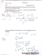 Exam 2, Integration, Differential Equations, and Partial Fractions