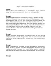 Dogon 1 Discussion Questions