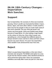 06.04 19th Century Changes - Imperialism .docx
