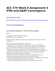 ACC 570 Week 8 Assignment 4  IFRS and GAAP Convergence.doc
