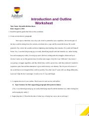 ENG121 Week 2 Outline 27,Gay and SIngle