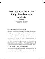 Mangan Lalwani-p02-cs03 Port Logistics City