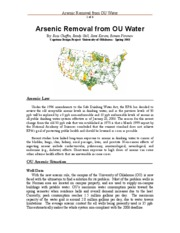 ARSENIC REMOVAL FROM OU WATER-SUMMARY