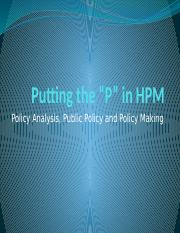 Class 19 - Putting the P in HPM.pptx