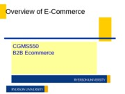 CGMS550 W11 Week 1 b - ECommerce Overview