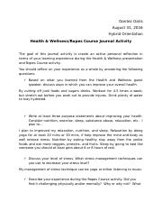 Health & Wellness and Ropes Journal Assignment Homework (2).docx