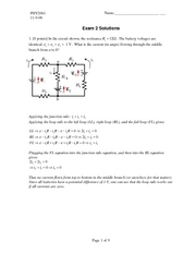 PHY2061 - Enriched Physics 2 fall 2006 Exam2_solution_f06
