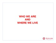 Who we are_where we live.lecture