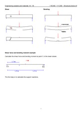 8 Shear force and bending moment notes