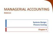Chapter 4 - Process Costing