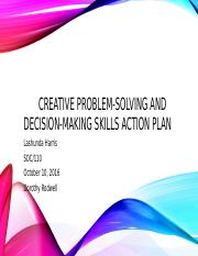 Creative Problem-Solving and Decision-Making Skills Action Plan.ppt