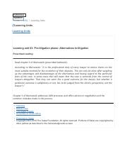 Learning unit 03- Pre-litigation phase- Alternatives to litigation.pdf