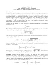 Study Guide on Line Integrals, Greens' Theorem, Partial Differential Equations
