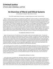 types of ethical systems in criminal justice