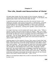 Belief #9 The Life, Death and Resurrection of Christ