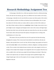 Research Methodology Assignment Two
