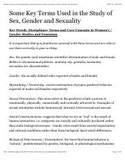 Gender, Power and Privilege Blog: Some Key Terms Used in the Study of Sex, Gender and Sexuality