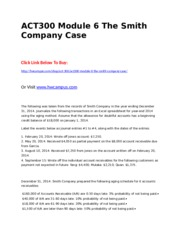 ACT300 Module 6 The Smith Company Case.doc