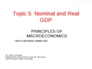 nominal and real GDP
