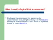 Lecture 18 Ecological Risk Assessment Fisher Corrected