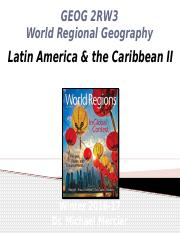GEOG 2RW3 - Winter 2017 - Lecture 10 - World Regions II - Latin America & the Caribbean II - student
