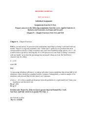 RES342Individual Assignment Assignments from the E-Text(Chapter 9 – Chapter Exercises 9.10, 9.13, an