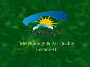 Meteorology for Air Pollution Control Engineers39