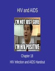 BIOL201 Chapter 18 HIV and AIDS.ppt