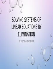 Solving systems of linear equations by elimination.pptx