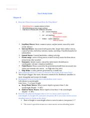 Oceanography study guide