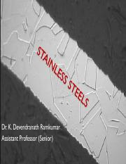 MET 6 - Stainless steels