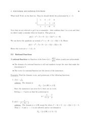 MATH 3 FAll 2011 Polynomial and Rational Functions Notes