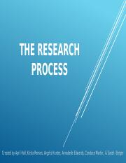 Research Process Powerpoint Final End