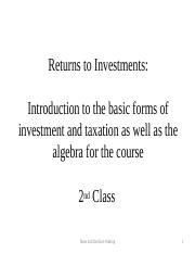 Spring 2017-2nd class PPS-returns to investments